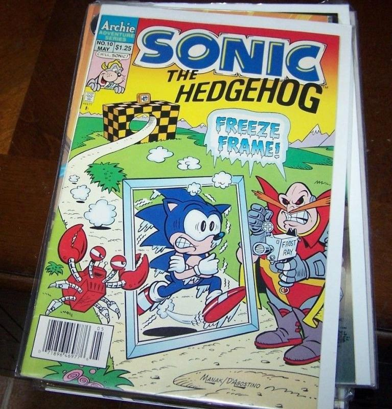 Sonic the Hedgehog #10 (May 1994, Archie) rare hard to find collectble