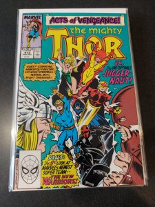 The Mighty Thor #412 (1989) 1st. APPEARANCE OF THE NEW WARRIORS!!!! HOT BOOK!!!!
