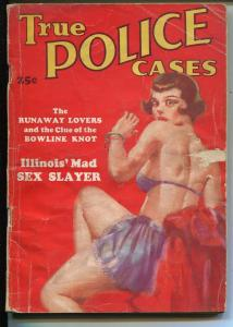 True Police Cases #1 1936-spicy Good Girl Art-1st issue-pulp crime-VG