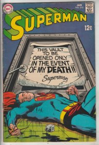 Superman #213 (Jan-69) VF- High-Grade Superman