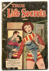True Life Secrets #15 1953- Roller Derby- hypodermic splash G-