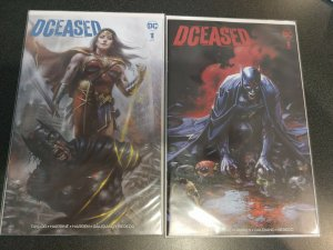 DCeased #1 Lucio Parrillo & Clayton Crain variant lot. SCORPION COMICS W/COA