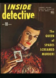 INSIDE DETECTIVE SEPT 1944-QUEEN OF SPADES-TRUE CRIME- FN