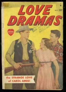 LOVE DRAMAS #1 1949-PHOTO COVER-WESTERN-RARE TIMELY VG