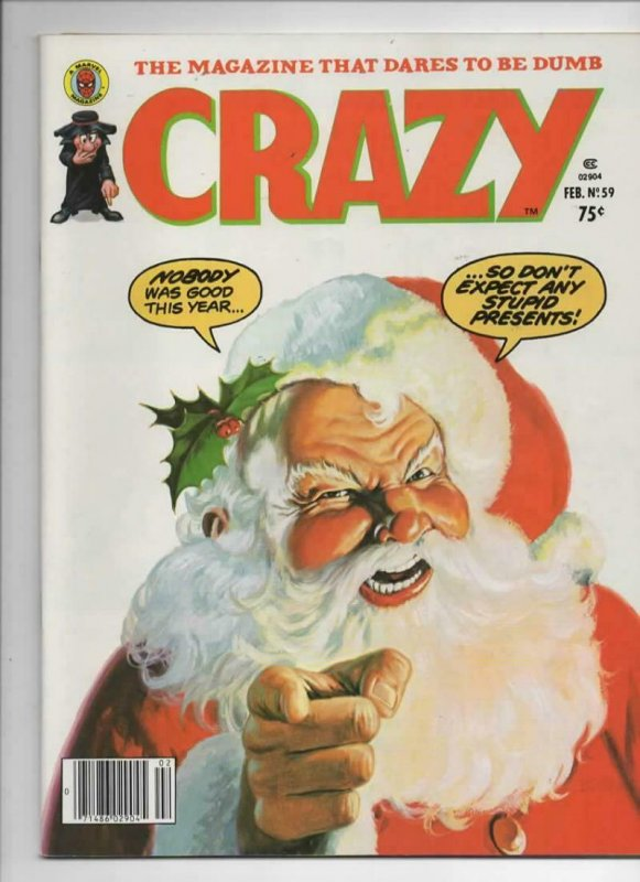 CRAZY #59 Magazine, VF-, Santa, Howard the Duck, 1973 1980, more in store