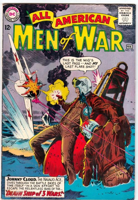 All-American Men of War #101 (Feb-64) FN/VF Mid-High-Grade Johhny Cloud