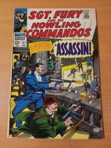 Sgt. Fury #51 ~ FINE - VERY FINE VF ~ (1968, Marvel Comics)