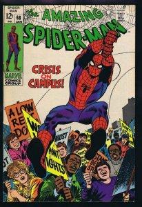 Amazing Spiderman #68 ORIGINAL Vintage 1969 Marvel Comics Crisis on Campus