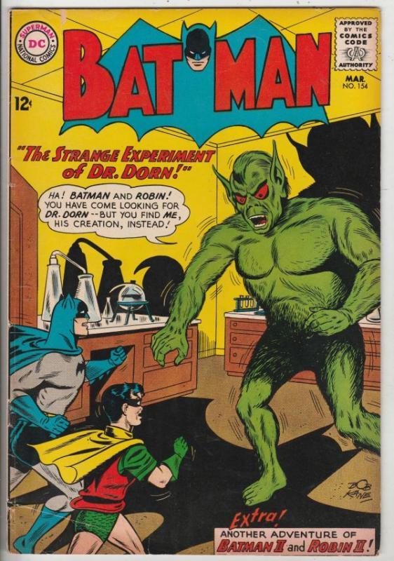 Batman #154 (Mar-63) FN+ Mid-High-Grade Batman