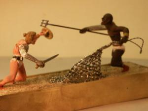 Spartacus Arena death mach 54/mm figurines