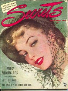 Secrets 9/1948-Ace-pin-up girl portrait cover-spicy scandals-exploitation-pul...