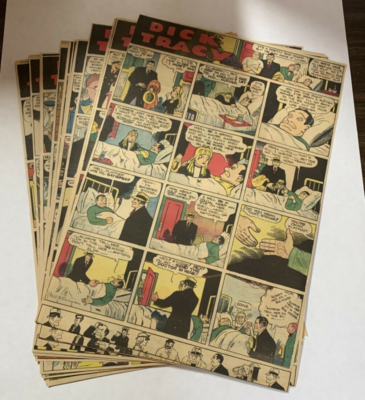 Dick Tracy Newspaper Comics 1940 Complete 52 Total Sundays Large Format