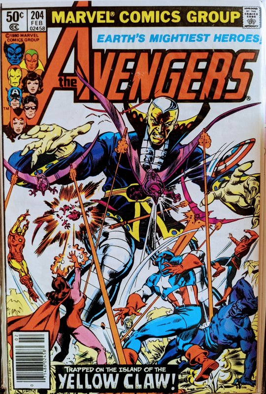 The Avengers #204 (1981) YELLOW CLAW APP!