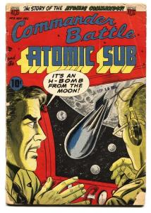 COMMANDER BATTLE AND THE ATOMIC SUB #3 1954-WILD H-BOMB COVER-fr
