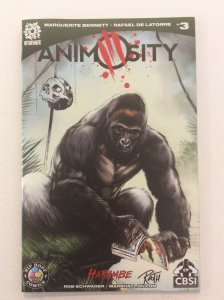 ANIMOSITY #3 -Ltd 200 Copies- Harambe Color Variant Signed/Sketch  by Mike Rooth