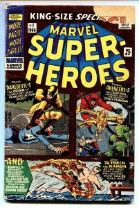 MARVEL SUPER-HEROES #1 comic book 1966-DAREDEVIL-SUB MARINER-AVENGERS- g