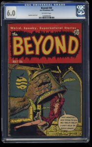 Beyond #20 CGC FN 6.0 Off White PCH Horror Classic Monster Belltower Cover!