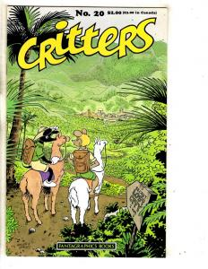 Critters # 20 VF/NM Fantagraphics Books Comic Book Adventures J289