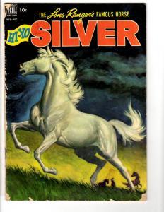 HI-YO Silver # 4 VG 1952 Golden Age Dell Western Comic Book Lone Ranger JL17