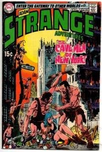 STRANGE ADVENTURES #219, FN+, Infantino, Robots, Cave Men of NYC, 1950 1969