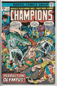 Champions, The #3 (Feb-76) VF High-Grade Ghost Rider, Hercules, Black Widow, ...