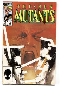 NEW MUTANTS #26 comic book First full Legion appearance TV show  Marvel