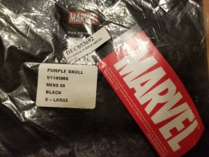 Punisher Purple Skull T-Shirt XL NOS w/ Tags Marvel