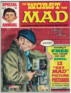 WORST FROM MAD (1969) 12 VG 1969 with PICTURE POSTCARDS