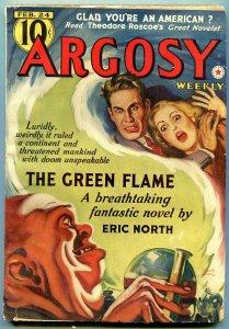 Argosy February 24 1940- Green Flame- Belarski cover VF