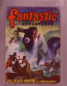 FANTASTIC ADVENTURES-JUNE 1948-GIANT SNAKE-PULP-INDIANS VG
