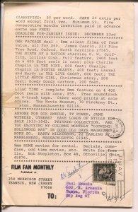 Film Fan Monthly #66 12/1966-Spanky McFarland-Our Gang-Leonard Maltin-VG