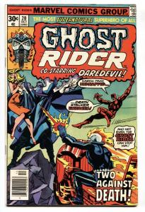 GHOST RIDER #20 1976-MARVEL-comic book vf-