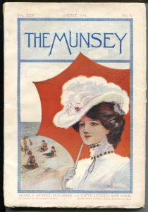 Munsey 8/1901-early pulp title-over 100 years old-rare-VG