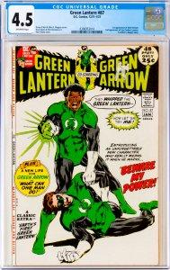 Green Lantern #87 CGC Graded 4.5 1st appearance of John Stewart. 2nd appearan...