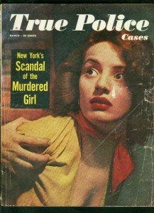 TRUE POLICE CASES-MARCH 1950-ELLEN KING-MURDER-WESTERN-WILD CRIME G