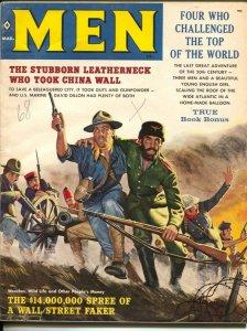 Men 8/1959 4/1960-Atlas-James Bama-Kunstler-pulp thrills-cheesecake-VG