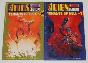 Alien Legion: Tenants of Hell #1-2 complete series - chuck dixon/larry stroman