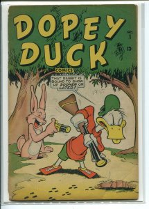 DOPEY DUCK COMICS (1945 TIMELY) #1 G- loose cover A00087