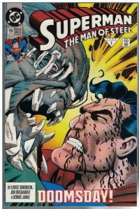SUPERMAN MAN OF STEEL (1991) 19 (1ST PR) F-VF DOOMSDAY