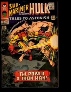 Tales To Astonish # 82 VG Marvel Comic Book Incredible Hulk & Sub-Mariner NE3