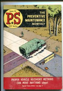 PS  THE PREVENTIVE MAINTENANCE MONTHLY #54-1957-WILL EISNER COVER-vg