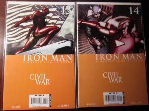 Iron Man (2006-07 4th Series), SET:#13-14, VF+/NM