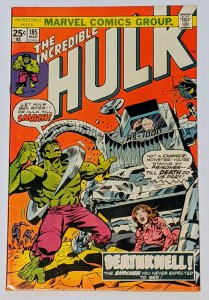 The Incredible Hulk #185 (Mar 1975, Marvel) VF- 7.5 Death of Col Armbuster
