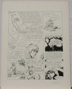 BUDD ROOT original art, CAVEBOY? Cavewoman, early work,1978,15 x 20,