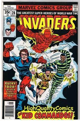 INVADERS #28, VF, Captain America, Kid Commandos, 1975, more in store