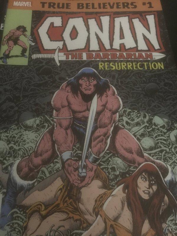 Marvel True Believers #1 Conan The Barbarian  Resurrection Mint