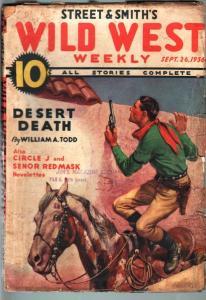 WILD WEST WEEKLY-9/26/1936-PULP-SENOR RED MASK-CIRCLE J G