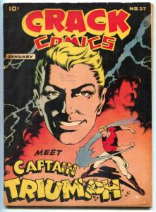 Crack Comics #27 1943- 1st CAPTAIN THUNDER- Black Condor FN