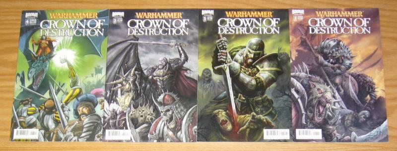 Warhammer: Crown of Destruction #1-4 VF/NM complete series - A variants set 2 3