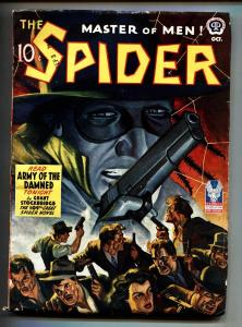 THE SPIDER OCT 1942 ARMY OF THE DAMNED High Grade Pulp Magazine